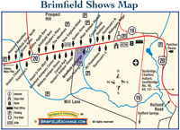 FREE Map & Easy Directions to Brimfield, MA